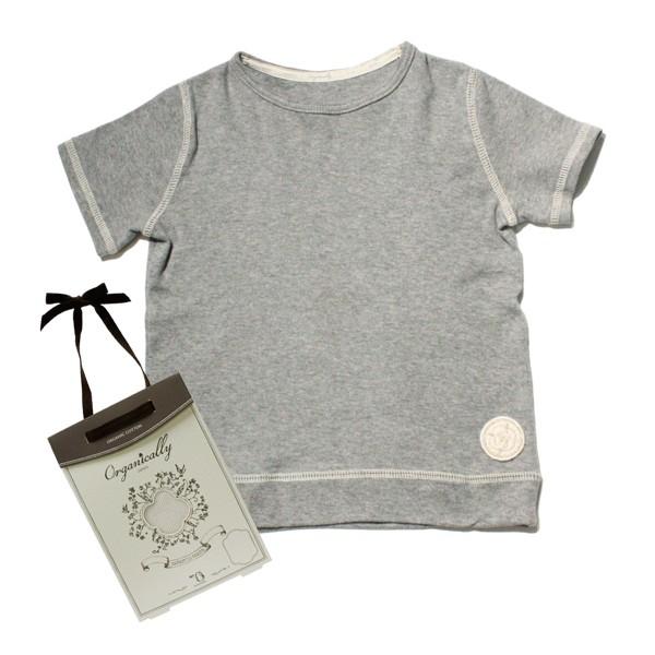 フライス 杢グレー クルーネック半袖Tシャツ