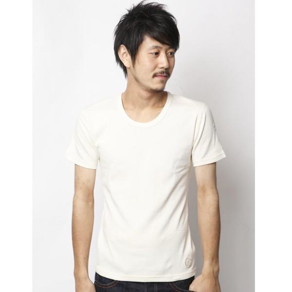 クルーネック オフホワイト 半袖Tシャツ